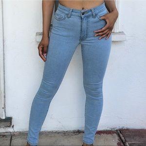 American Apparel stone denim skinny jeans